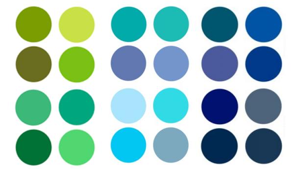 Tìm hiểu ý nghĩa, cách sử dụng màu xanh trong thiết kế và in ấn