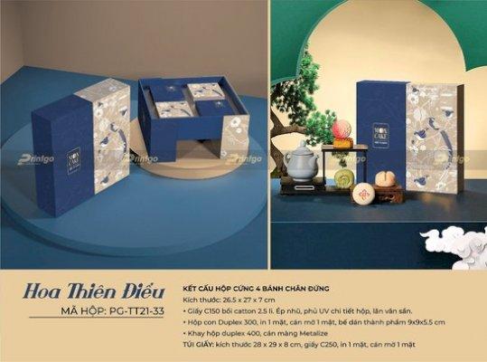 In hộp bánh Trung Thu Hoa Thiên Điểu PG-TT21-33 uy tín, chuyên nghiệp